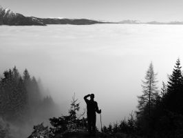 Wanderer above the Sea of Fog by Leff616