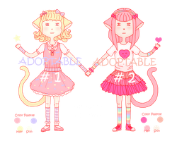 Fairy Kei Kitties - Adoptables (2/2 Avaliable) by Ninelyn