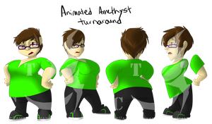 Animated Me turnaround by AmzyTheChangeling