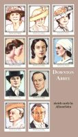 Downton Abbey Sketch Cards 1 by AllisonSohn