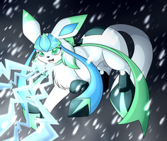 Ice beam by FlareAKACuteFlareon
