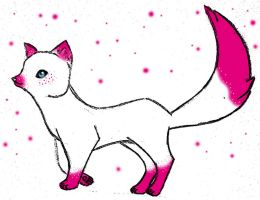 Pink Arctic Fox by sweet-cynder