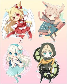 Chibi commission batch05 by inma