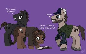 MLP Winchesters and Bobby by TheLastUnicorn1985