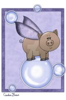 Bubble Piggy I by VioletDolphin