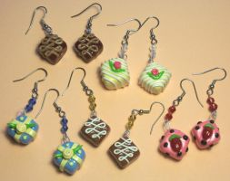 Petit Four earrings by Gimmeswords