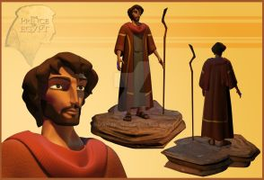 the prince of egypt Moses final 3D character by mamakun