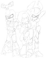 Medabots in pencils by lady-warrior