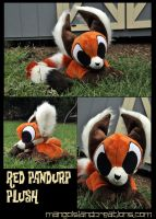 Red Pandurp plush by MangoIsland