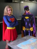 Justice League:  Supergirl and Batgirl by downtowndave