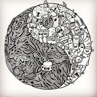 Yin and Yang Doodle by VinceOkerman