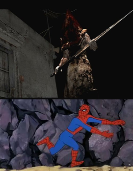 Pyramid Head out of fucking nowhere by Quagmirefan1