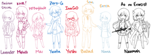 OC Chibi List: Pt. 1 by Mai-Chuu