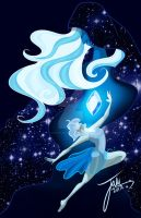 Blue Diamond And Pearl by Caffeine-Assassin