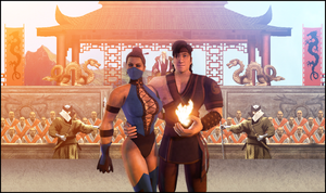 Kitana and Liu-Kang by CJRus