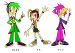 Human Chaotix Doubles - color by LyraVulpictor