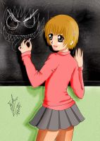 Yako Katsurag and blackboard by eliantART
