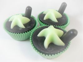 Mint Chocolate Chip Cupcakes by lizessweetsoapshop