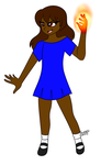 CM. Blue Dress Red Flame by Sweatshirtmaster