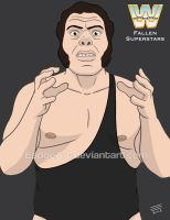 WWE Fallen Superstars: Andre the Giant by EadgeArt