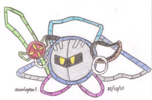Yarn Meta Knight by MarioSimpson1