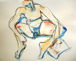 drawing nude by LaurieLefebvre
