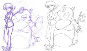 ranma and panda rough by jimmymcwicked