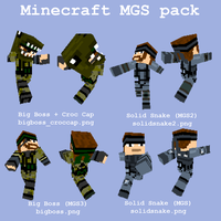 MGS skin pack for Minecraft by CorporalDogmeat