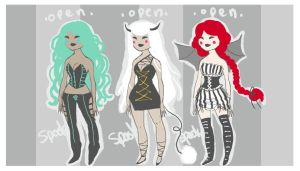 adoptables - demon girls - c l o s e d by Spooktastical
