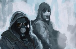Speedpainting: f*ing snow by Excalle