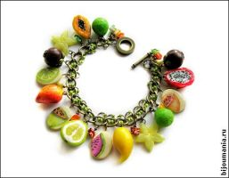"Bracelet ""Tropical Fruit"" 1 by allim-lip"