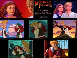 Guybrush and Elaine Wallpaper by beekay84