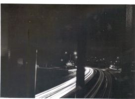 high way 7 at night by sky-commander