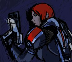 Commander Shepard Inked by Garrenh