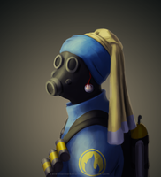 Pyro with a Non-Pearl Earring by CelestialDarkMatter