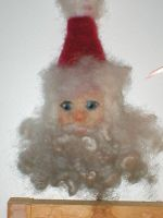 Needle felted Santa Claus by Potterycat