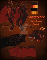[AUCTION] Fire Dragon by Kitsune-Nyx