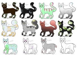Cat Adoptables -SALE- by Squeezee145