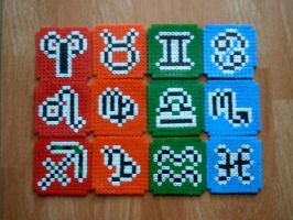 Zodiac Beads: Fire, Earth, Air and Water by Nigaito-von-Karma