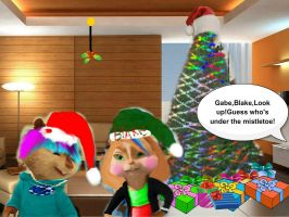 Eli-Guess who's under the mistletoe? by 1DPuppyLoverFOREVER