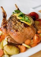 Roasted Chicken with Vegetables by iconsPhotography