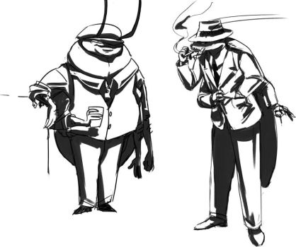 Noir cockroaches by GiMoody