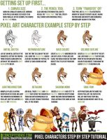 Pixel Characters Step by Step Tutorial by ConceptCookie