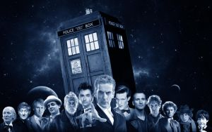 Wallpaper Doctor Who - Tardis by Anklem