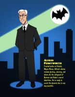 Batman 1966 - Alfred Pennyworth by SeriojaInc