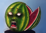 Walter the watermelon by Food-and-art