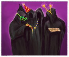 Hooded party by Nenastia