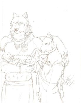 Wolf Family sketch for TC by SanTsuki