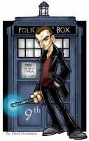9th Doctor by badgerlordstudios