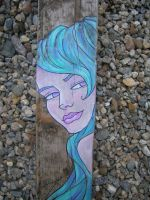 Cloes up Turquoise Mermaid by khallion